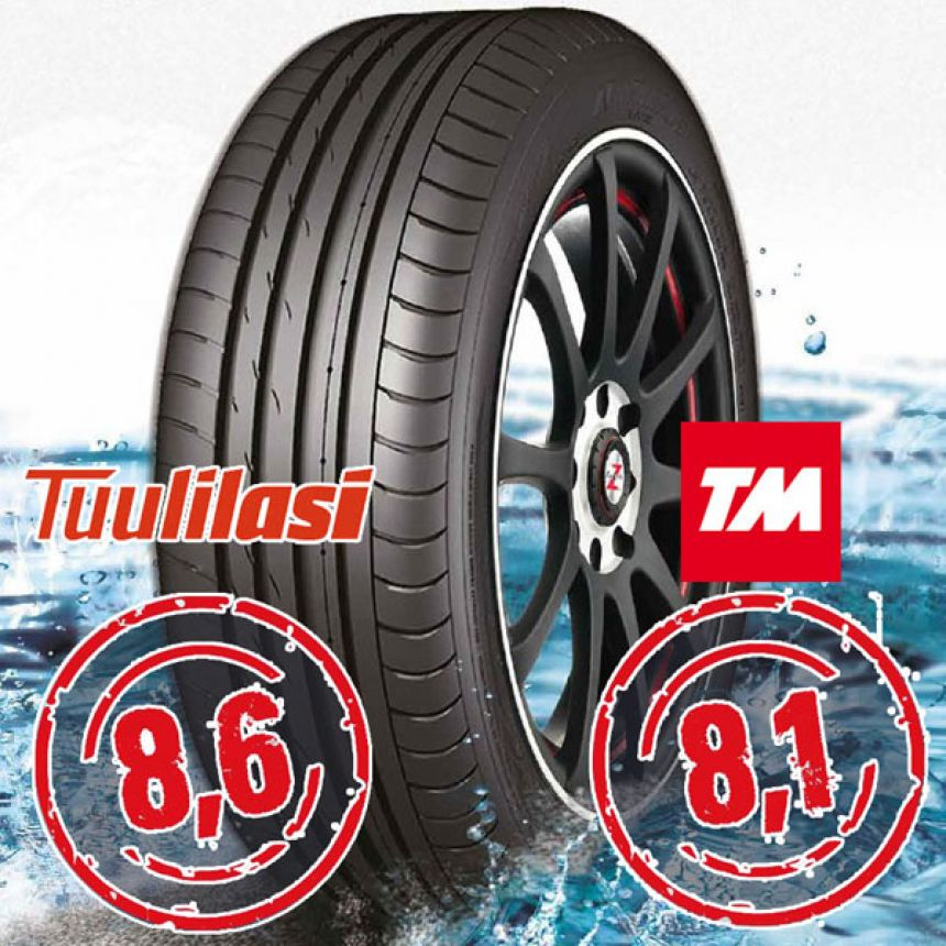 Sportnex AS-2+ TM- ja Tuulilasi-testimenestys 245/45-20 Y