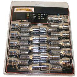 Tähtipää aluvannepulttisarja 1,5mm nousu, 14mm 20 kpl, Pituus 28mm