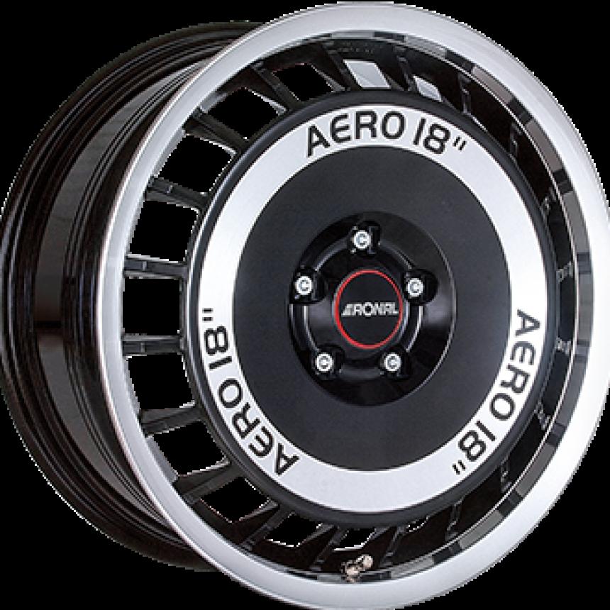 R50 AERO Gloss Black / Polished 7.5x16